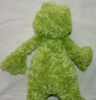 Jelly Cat Lime Green Shaggy Frog Stuffed Toy Animal Plush Jellycat