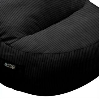 Elite Products Deluxe Cord Sitsational 1 Seater Chair Black Bean Bag