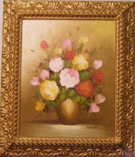 Best Antique Roses Flowers Oil Painting  Victorian Art