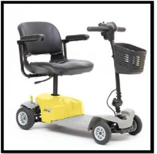 New Mega Motion mm 84 Elite 8 Yellow Electric 4 Wheel Power Chair Scooter