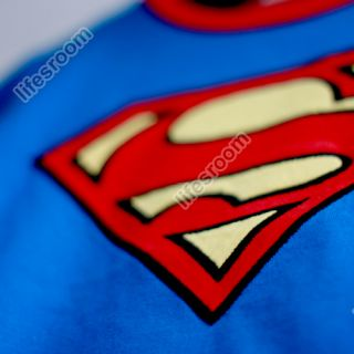 Superman Baby Kid Toddler Grow Onesie Bodysuit Romper Jumpsuit Coverall Outfit