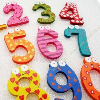 Wooden Fridge Magnet 26 Letter Alphabet Number Educational Toy Baby 3 Style JZ9M