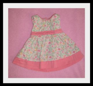 OshKosh B'Gosh Baby Girls Floral Dress Pink Bow 0 3 Months Newborn Spring Easter
