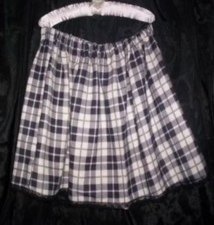Custom Made Adult Sissy Womens Mens CD TV Green Plaid School Girl Mini Skirt