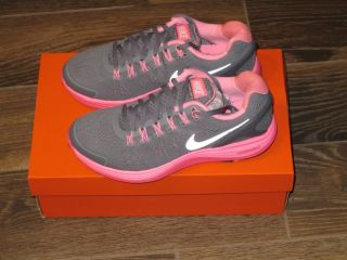 New Nike Lunarglide 4 GS Kids Girls Gray Pink Running Shoes Size 6 Youth