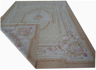 9'x12' Hand Woven Wool French Aubusson Flat Weave Rug Brand New