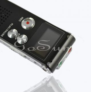 Steel 4GB Voice Activated USB Digital Audio Voice Recorder Dictaphone  Player