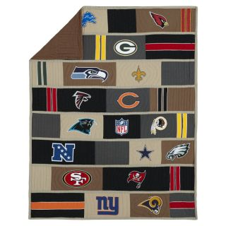Pottery Barn Teen NFL NFC Quilt Twin National Football League Conference