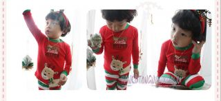 Girls Boys Kids Baby Toddler Xmas Christmas Pajamas Suits Sleepwear Snowflakes
