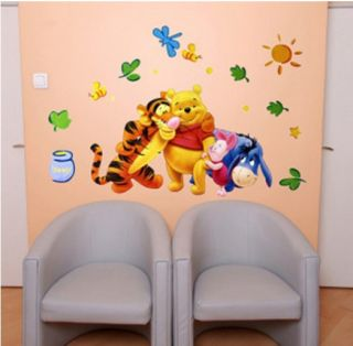 Funny Winnie The Pooh Baby Nursery Room Wall Sticker Decals for Home Decor DIY