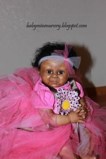Babymine Nursery Joya Reborn Baby Doll Girl Biracial Lilly Kit Denise Pratt