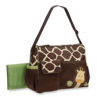 Carter's Everyday Multi Front Pocket Fashion Giraffe Duffle Diaper Tote Big Bag