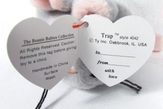 Candy Spelling's Beanie Baby Trap Mouse '93 4042 1st Gen Tush Tag Spelling Manor