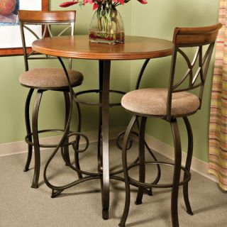 Powell Cafe Hamilton Pub Table in Matte Pewter and Bronze 697 404