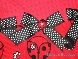"New ""Ladybug Bows"" Pant Girls Winter Clothes 6M Fall Boutique RARE Editions Baby"