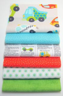 "Riley Blake Fabric Rag Quilt Kit 84 6"" Sqs Peak Hour Fun Colors"