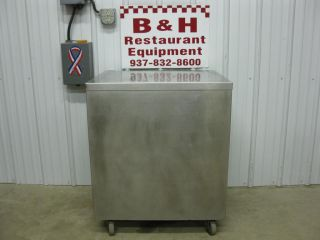 "30"" x 24"" Stainless Steel Heavy Duty Prep Table Work Cabinet w Double Shelf 2'"