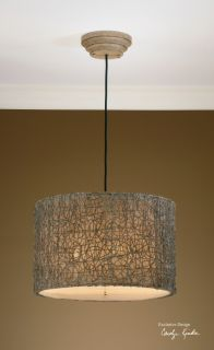 Knotted Rattan Light Hanging Shade Chandelier Modern