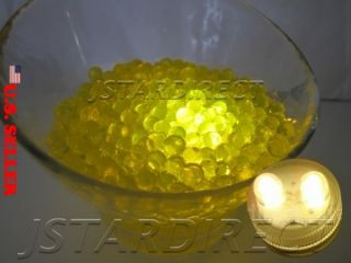 400 G Clear Yellow Water Bead 40 Submersible Bright LED Lights F Wedding Decor