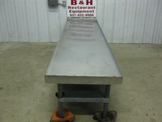 "96"" Stainless Heavy Duty Equipment Griddle Stand Table"