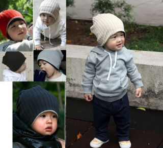 Trendy Baby Toddler Boys Girls Knit Reversable Beanies Hat