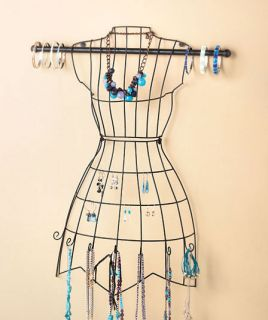Vintage Metal Wall Dress Form Jewelry Organizer Scarf Display Boutique Mannequin