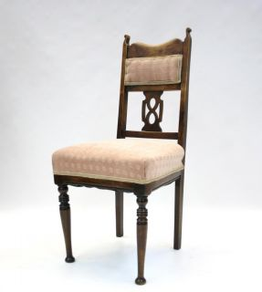 Antique Victorian Chairs Art Nouveau Carved Mahogany Dining 2 Available
