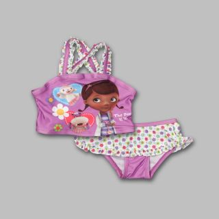 Disney Doc McStuffins Toddler Girl's Tankini Set Swimsuit Size 4T