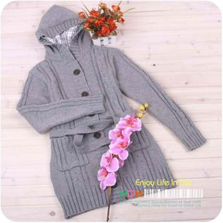 New Hot Womens Long Sleeve Hoodie Cardigans Trench Sweater Warm Fashion Coat