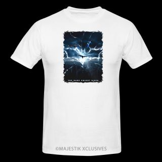 The Dark Knight Rises V4 Movie T Shirt s XL White Batman DVD Blu Ray Poster