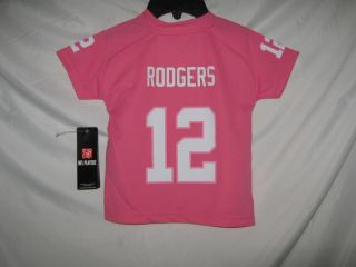 Packers Aaron Rodgers Pink NFL Team Apparel Girls Toddler Jersey Size 4T