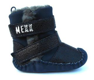 Baby Boy Girl Navy Fur Lined High Top Boots Walking Shoes US Size 1 2 3