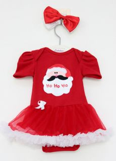 2pcs Girl Baby Infant Headband Romper Jumpsuit Tutu Top Dress Clothes Outfit
