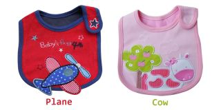 1pc Baby Kid Toddler Infant Cartoon Bib Waterproof Saliva Towel Feeding Boy Girl