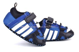 Baby Boy Blue Mesh Soft Sole Crib Shoes Sport Sneakers Size Newborn to 18 Months