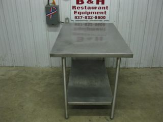 "48"" x 30"" Win Holt Stainless Steel Work Prep Top Table w Under Shelf 4 x 2 1 2'"