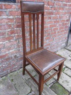 Stunning Antique Arts Crafts High Back Hall Feature Chair Beautiful Old