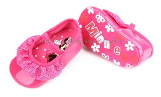 Baby Girls Fuchsia Minnie Mouse Dress Walking Shoes Size 0 6 6 12 12 18 Months