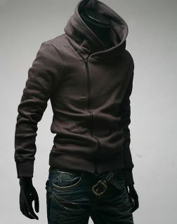 New Mens Womens Unisex Casual Slim Fit Zip Up Hooded Top Jackets Coats Hoodies