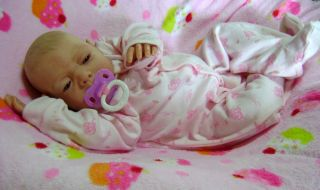 Beautiful Reborn Baby Doll Kaylee by Linda K Smith Newborn with Painted Hair