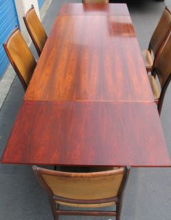 Mid Century Rosewood Dining Table Chairs Norway Bruksbo