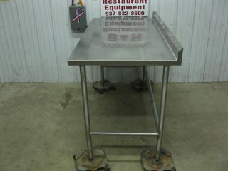 "60"" x 30"" Stainless Steel Heavy Duty Work Table w Back Splash Roll Under 4'"