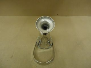 Brass Artware Flower Vase 14in H x 5 1 2in Diameter Chrome Handle 1342 N Brass