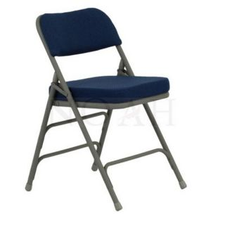 Hercules Fabric Padded Metal Folding Chair Navy 52 Pack