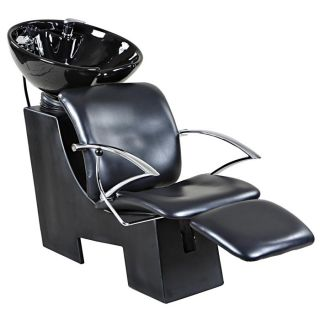New Sturdy Black Salon Shampoo Chair Bowl Unit Su 06