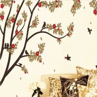Autumn Tree and Birds Wall Sticker Decal