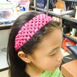 16 Colors Choice Baby Girl Kid Head Hair Band 4cm Knit Crochet Stretch Lot A1506