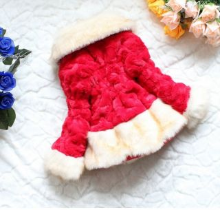 Pretty Toddlers Kids Faux Fur Fleece Lapel Coat Boys Girls Winter Warm Jacket