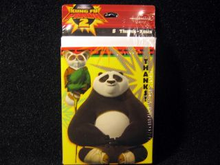 8 Kung Fu Panda 2 Birthday Thank You Cards Party Supplies Favors Decorations