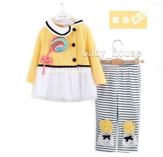New Baby Girls Sweater and Pants Suit Outfits Set Clothing Sugar Loaf